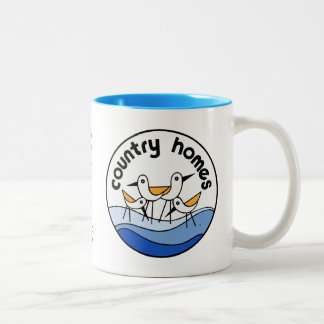 Country Homes Logo Two-Tone Coffee Mug