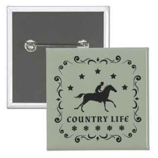 Country Horse Stamp 15 Cm Square Badge