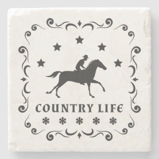 Country Horse Stamp Stone Coaster