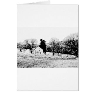 Country House in Back and White Card