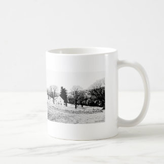 Country House in Back and White Coffee Mug