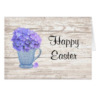 Country Hydrangea Large Font Easter Card