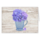 Country Hydrangea Large Font Mother's Day Card
