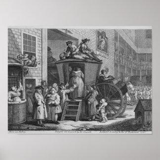 Country Inn Yard, 1747 Poster
