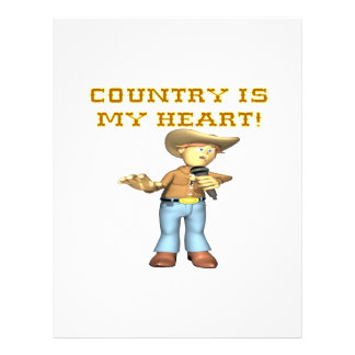 Country Is My Heart Custom Flyer