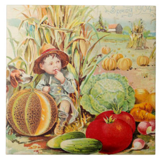Country Kitchen Ceramic Tile Pumpkin Patch
