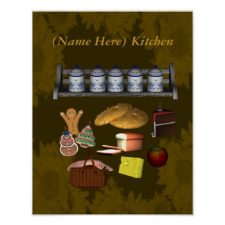 Country Kitchen Food Your Name Poster