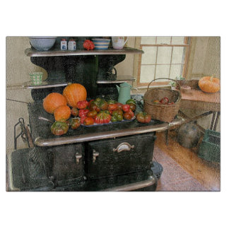 Country Kitchen Glass Cutting Board