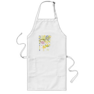 country kitchen - hand mixer on floral. long apron