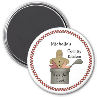 Country Kitchen Kiss the Cook Magnet