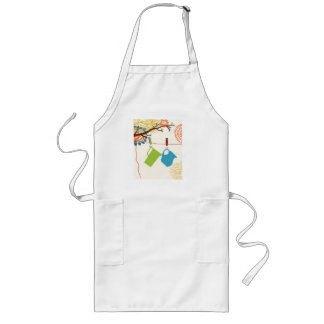 Country Kitchen- Pails and Pitcher on floral. Apron