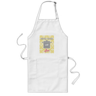 country kitchen - pot on damask floral. apron