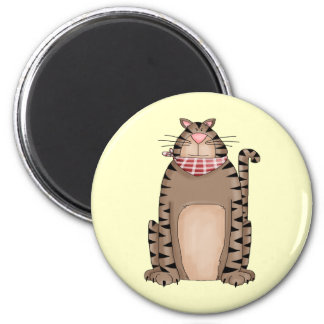 Country Kitty 6 Cm Round Magnet