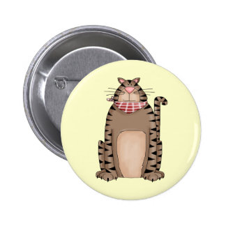 Country Kitty Pinback Button