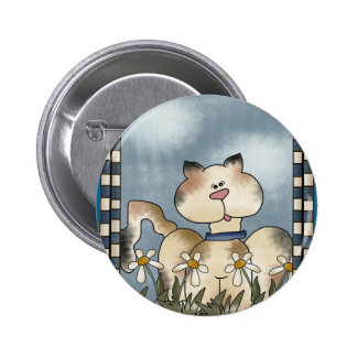 Country Kitty Button