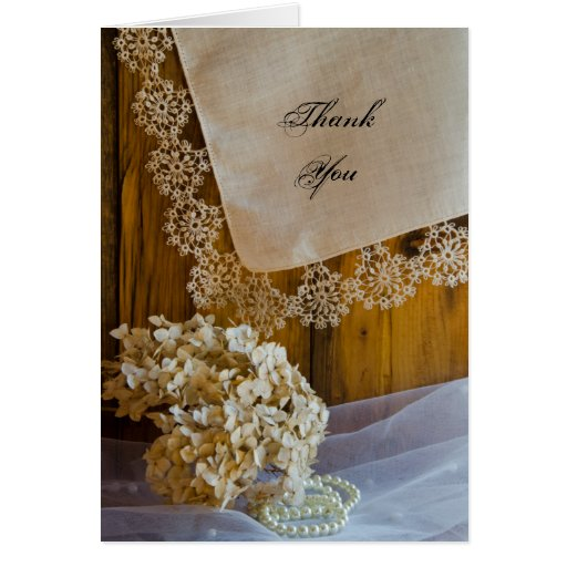 Country Lace Bridesmaid Thank You Card
