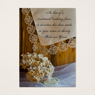 Country Lace Flowers Barn Wedding Charity Favors