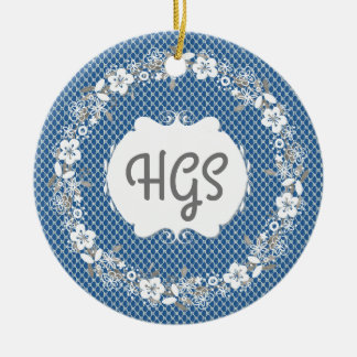 Country Lace | Monogram Gift Tree Ornament