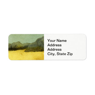 Country landscapes and scenic views rocks and sand return address label