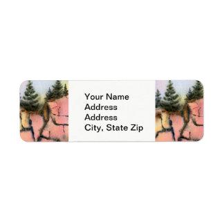 Country landscapes blue sky summer rocks pine. return address label