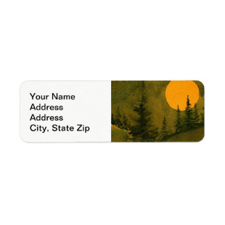 """Country landscapes scenic views  hunter""""s moon 2. return address label"""