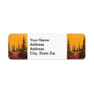 Country landscapes sunrise sunset morning orange. return address label