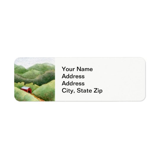 Country landscapes woodland fields barn shed . return address label
