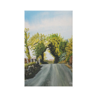 Country Lane, Cork Ireland Canvas Print