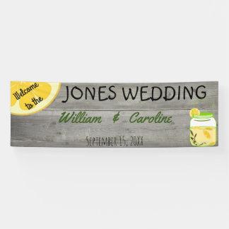Country Lemonade Mason Jar Rustic Wedding Banner