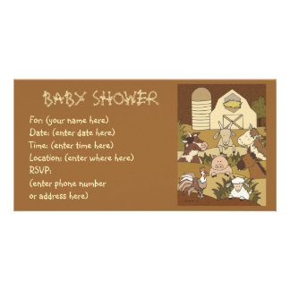 Country Life 21 Baby Shower Photo Greeting Card