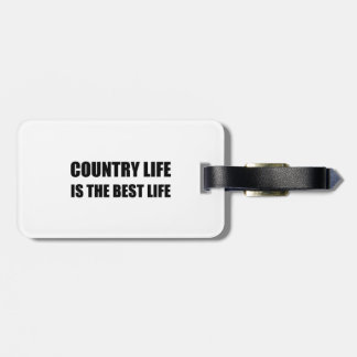 Country Life Best Life Luggage Tag