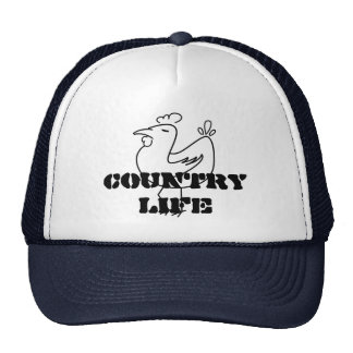 Country life rooster trucker hat