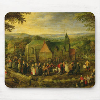 Country Life with a Wedding Scene Mouse Pad