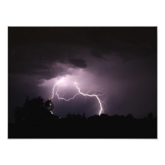 Country Lightning Storm Photo