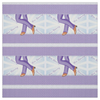 Country Line Dance Boots Print On Lavender Fabric