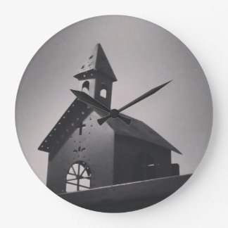 Country Little Church Large Clock