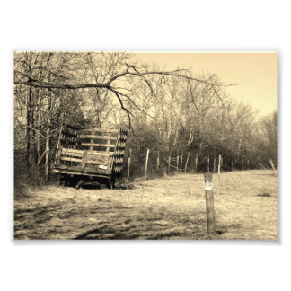 Country Living 7x5 Black and White Photographic Pr Photograph