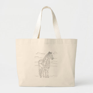 Country Living Horse Large Tote Bag