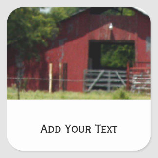 Country Living Red Barn Square Sticker