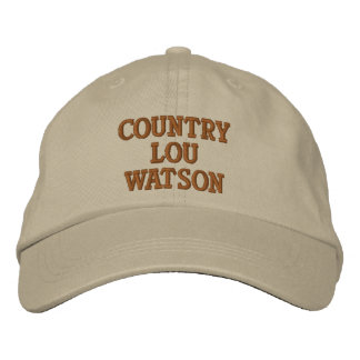 COUNTRY LOU WASTON EMBROIDERED HAT