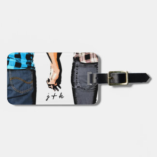 Country Love  Couple Holding Hands Luggage Tag