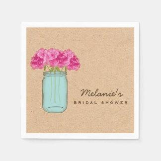 Country Mason Jar Bridal Shower Napkins Disposable Napkin