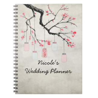 Country Mason Jars Wedding Planner Notebook