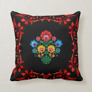 Country Midnight Floral Accent Pillow