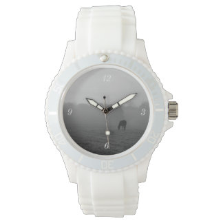 Country Morning Grayscale Wristwatch