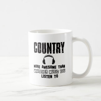 country music design basic white mug