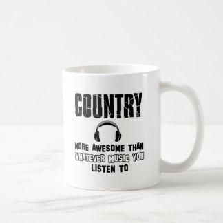 country music design coffee mug