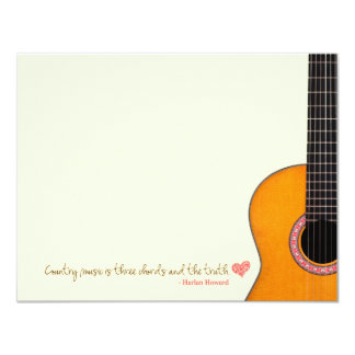 "'Country Music is Three Chords' Note Cards (CMAs) 4.25"" X 5.5"" Invitation Card"