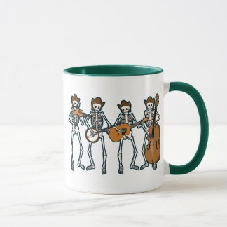 Country Music Playing Skeletons Mug