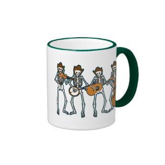 Country Music Playing Skeletons Ringer Mug